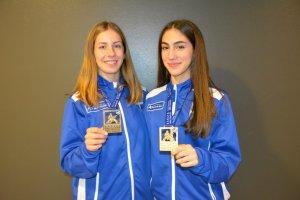 Λυδία Ξένου και Στελίνα Τζίλια: Δύο μικρές καρατέκα στην κορυφή της Ευρώπης